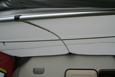 poles or the camper trailers bedside awning